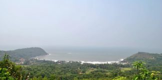 Aeriel View Kudle Beach
